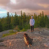 Can a dog appreciate the sunrise? This one can!