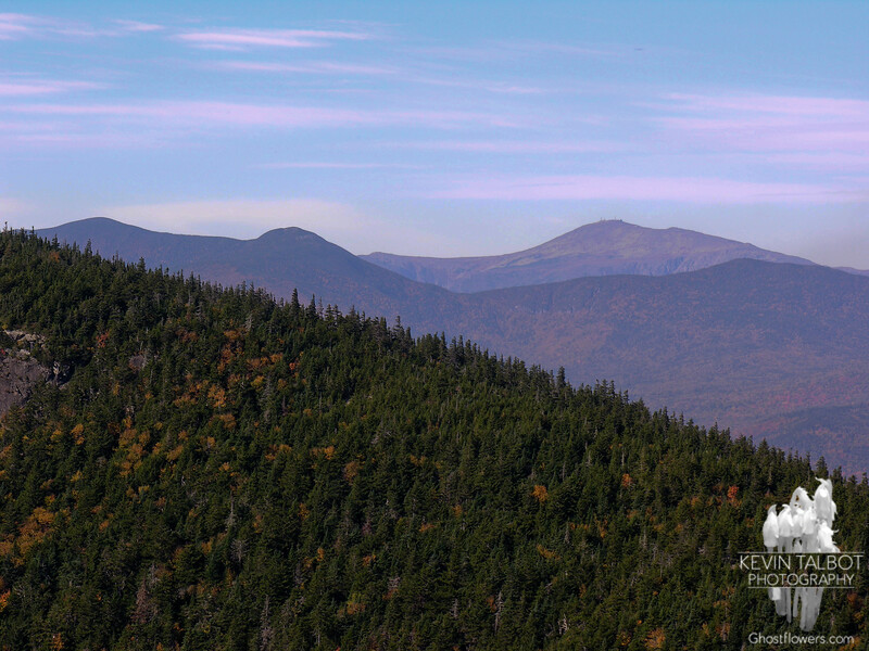 Looking over the north shoulder of West Royce, (L to R) Carter Dome, Mount Hight, Boott Spur, Mount Washington and Middle Carter.