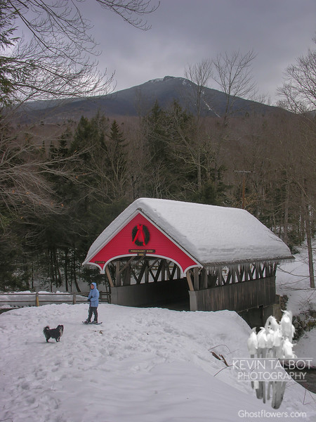 At the covered bridge...