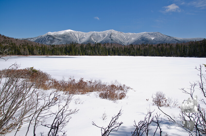 First of many: Franconia Ridge across Lonesome Lake.