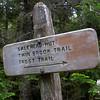 Near the hut.