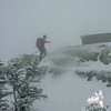 Tim reaches the summit.