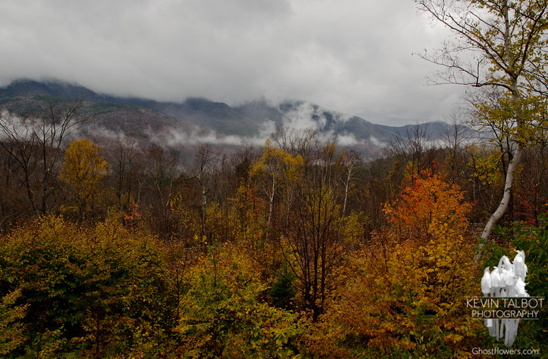 Shrouded view of Scar Ridge from the parking area.