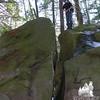 Split boulder.