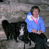 Judy and Emma share a snack after dark on the summit of Mount Major.