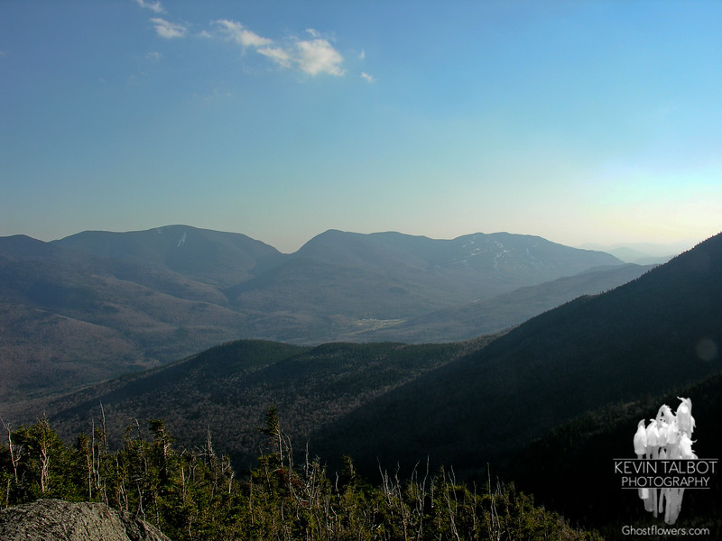Carter Dome, Carter Notch and the Wildcats from lookout on Pine LInk Trail.