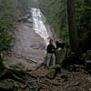 Emma and her human at Ripley Falls.
