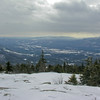 View south to the Ossipee Range.
