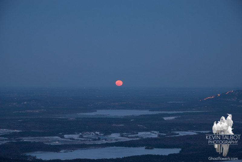 Super Moon rises near Shawnee Peak.