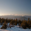 To our northwest, the Crown Jewell of the White Mountains, Mount Washington and the Presidential Range.
