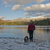 The girls at Lonesome Lake.