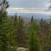 View south to the Ossipee Range from Hurricane Mountain Trail.