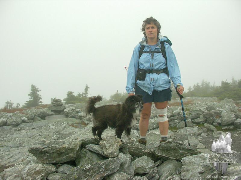 Jude and Emma on Mount Abraham.