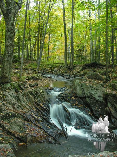 Falls near Kent Pond.
