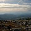View west to Lake Champlain and the Adirondacks.