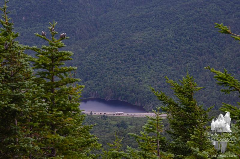 Saco Lake below us...