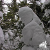 Daniel Boone snowperson.