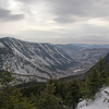 Looking east through Crawford Notch from Mount Avalon.