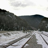 """Looking through """"The Gateway"""" of Crawford Notch to Mount Webster. Elephant Head is to the left."""