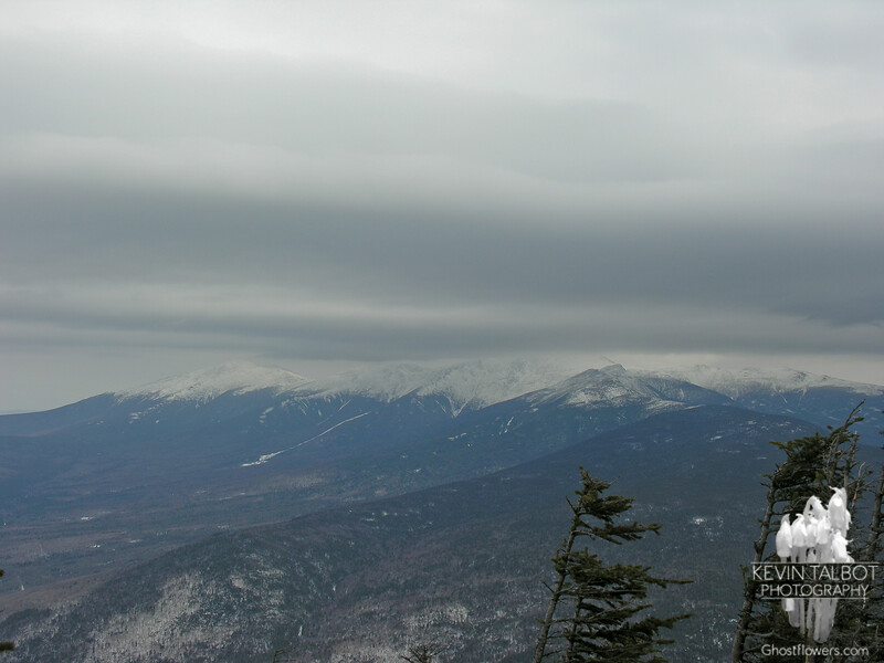 Clouds over the Presidentials as seen from Mount Field.