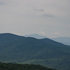 Hazy zoom of Franconia Ridge...