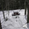 Snowed in campsite.