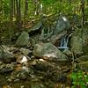 Tiny waterfall on Claybank Brook.
