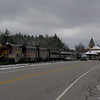 The Conway Scenic Railroad pulls away from Crawford Notch Station.