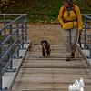 Emma is never too sure about footbridges.