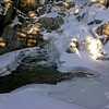 Frozen Gibbs Falls vertical.