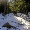 Frozen Gibbs Brook.