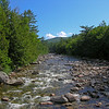 The East Branch of the Pemigewasset River, as we start our hike.
