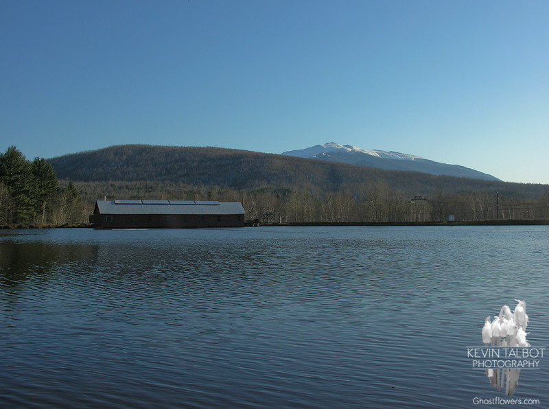 Across the canal to the dam as the Northern Presidentials form the backdrop.