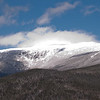 Fog and blowing snow on Mount Washington.