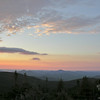 """The """"Belt of Venus"""" over the Doubleheads and Kearsarge North."""
