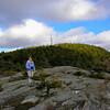 Ledges just below the summit.