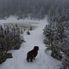 At the ice bridge on Eagle Lake.