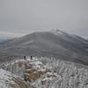Hikers approach along Franconia Ridge Trail.
