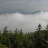 Valley fog undercast.