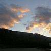 Sunset clouds over the northern ridge of Mount Mansfield.