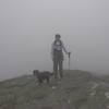 Cold and damp on the summit, again.