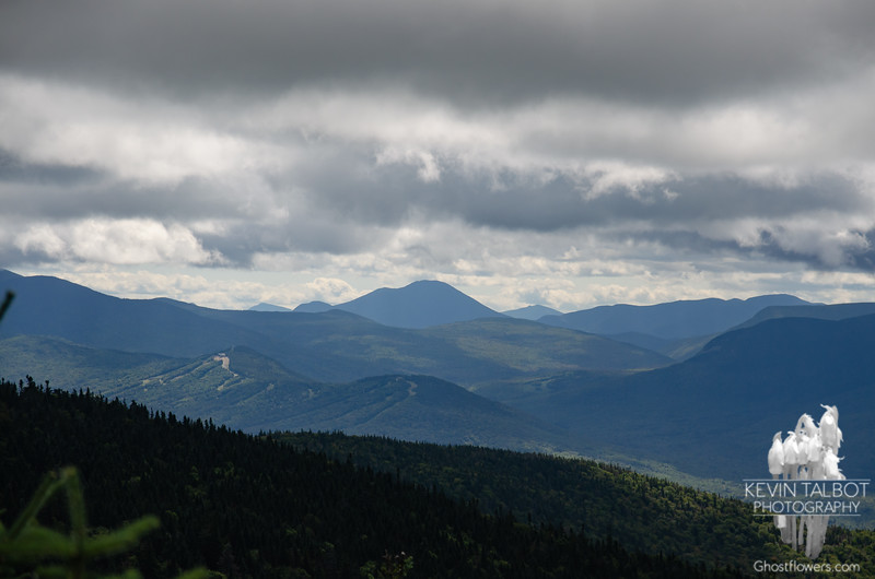 Zoom to Mount Carrigain up the Zealand Valley. Rosebrooks and Bretton Woods mid-center...