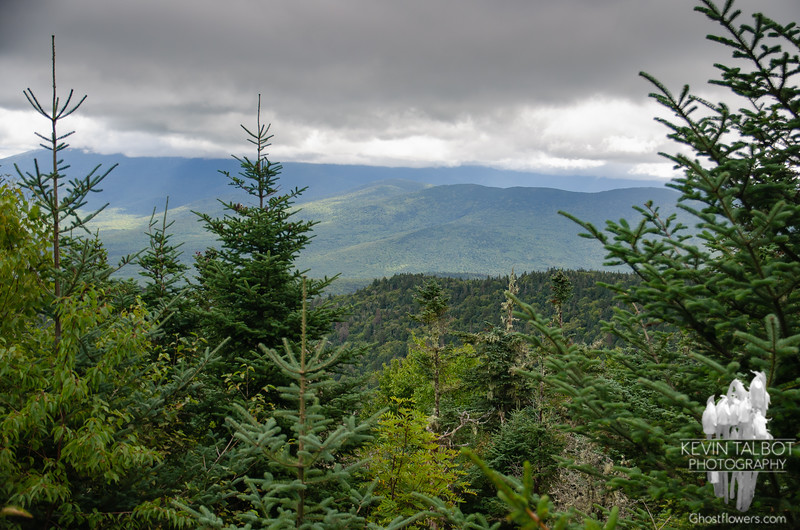Clouds were hanging low over the Northern Presidentials as we reached the summit of Martha...