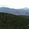 View south over the Rosebrooks (Bretton Woods Ski Area) to Mount Carrigain.