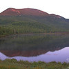 First light creeps down Mount Meader.