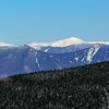 Mount Washington rises between Mount Liberty (L) and Mount Flume (R). The Bonds are in between.