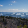 View of the Rattlesnake Hills below and between us and Squam Lake.