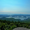 View across Squam Lake to Gunstock.