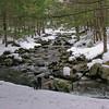 Emma enjoys hiking along the brook.