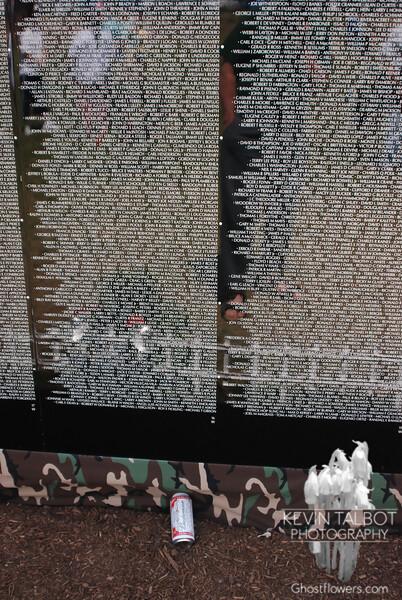Memento at the Moving Vietnam Memorial.